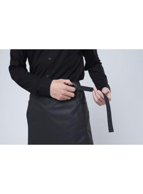 rin 城市圍裙CUB - 黑色全棉防潑水半身工作服