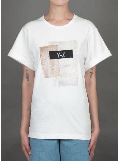 牛皮紙Y-Z衣標印花T-SHIRT