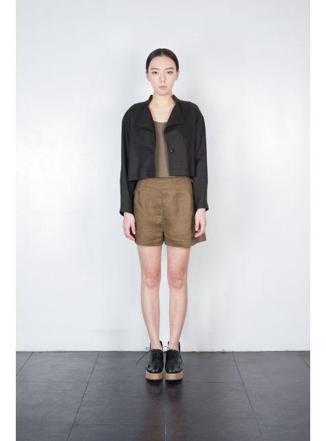 三角開襟短版外套