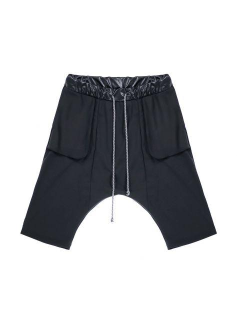 抽繩七分寬褲
