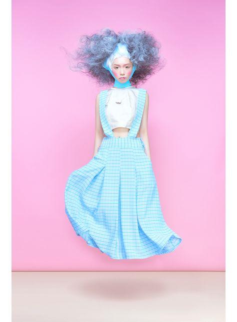 半寶石『淺藍吊帶裙』
