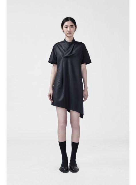 不對稱開衩洋裝