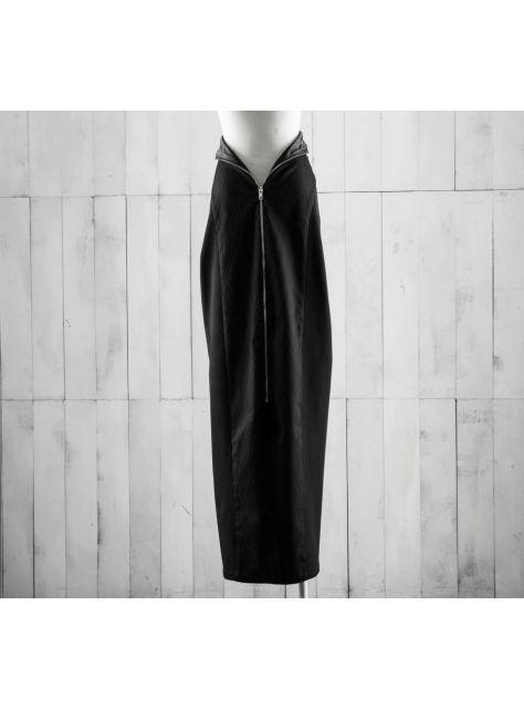 拉鍊高腰長裙
