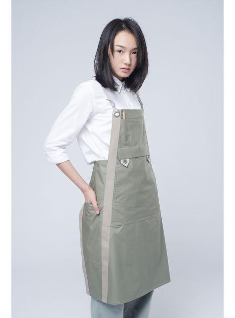 rin 城市圍裙ACE - 淺橄欖綠色全棉防潑水職人工作服