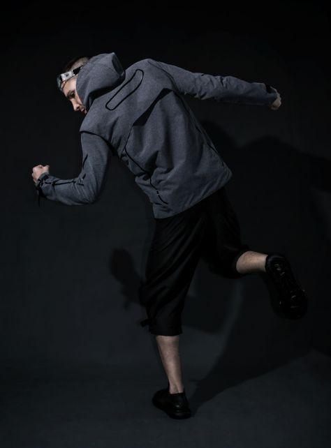 黑色重力八分褲