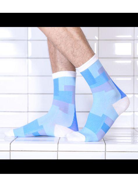 積木襪/藍