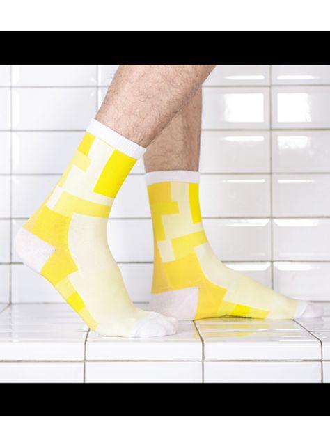 積木襪/黃