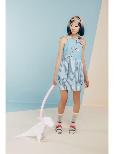 moi non plus 牛奶糖蝴蝶結燈籠裙洋裝