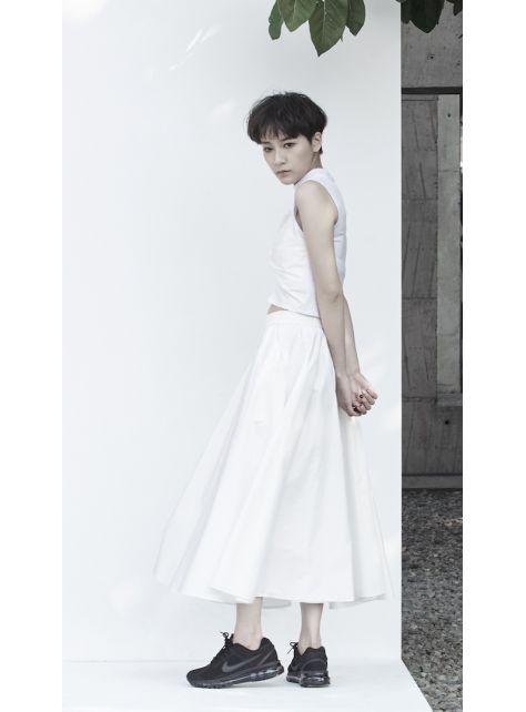 寬鬆波浪裙