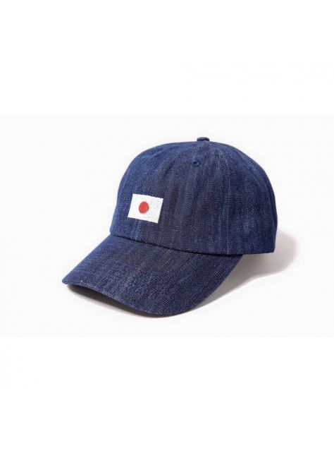 Denim navy blue Japanese flag golf cap