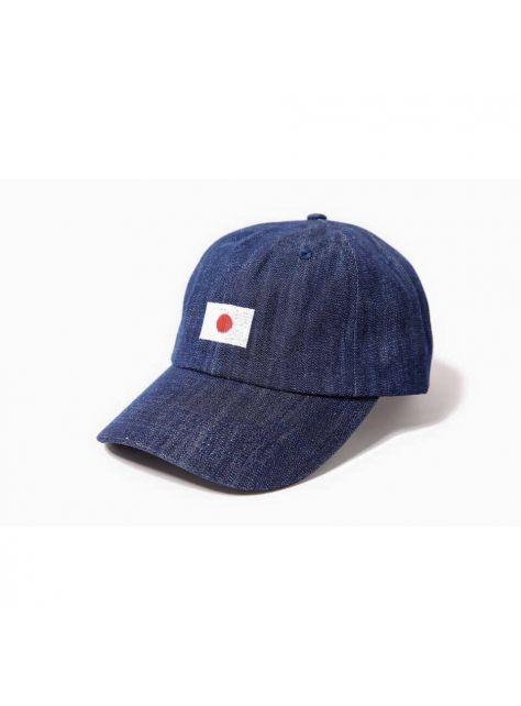 Denim navy blue Japanese flag golf cap