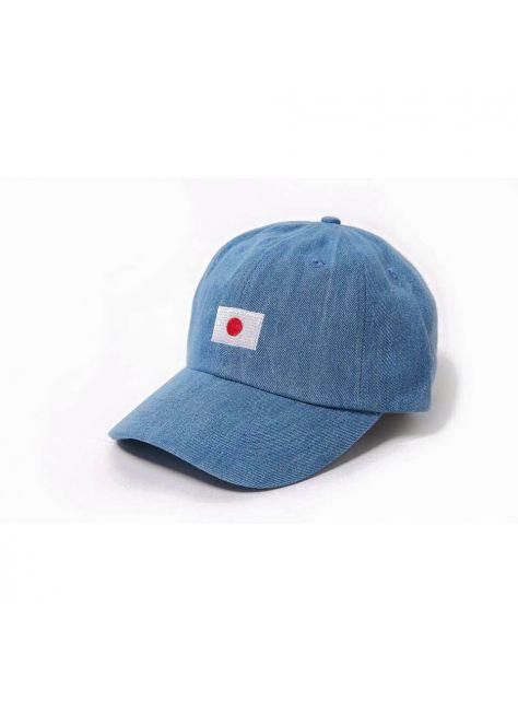 Denim lighe blue Japanese flag golf cap