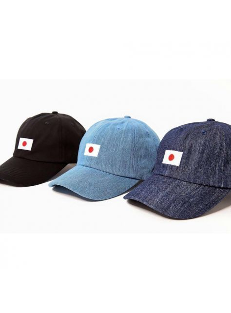 Denim lighe blue Japanese flag golf cap
