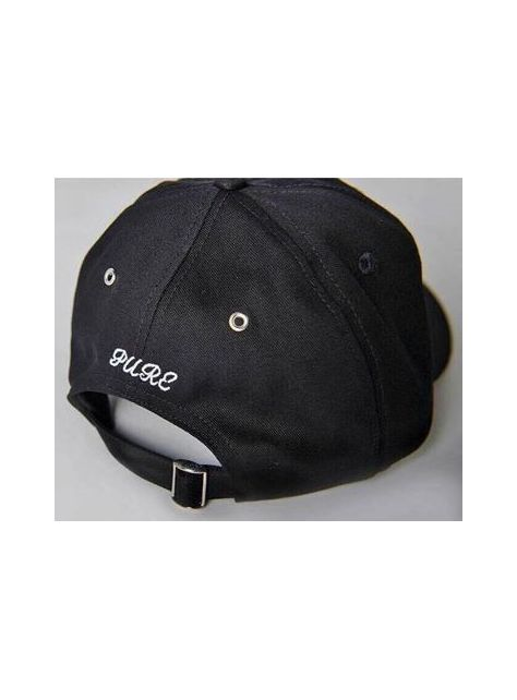 Black Slogan golf cap