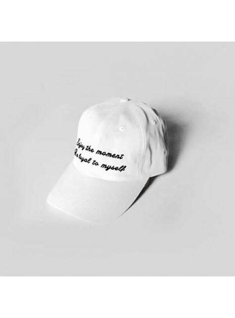 White Slogan golf cap