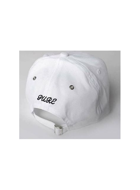 White Slogan golf cap