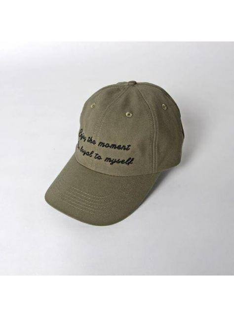 ArmyGreen Slogan golf cap