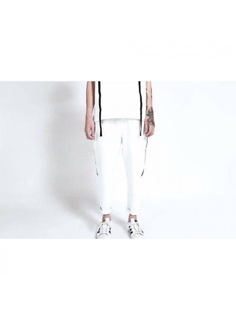 白色運動套裝-褲