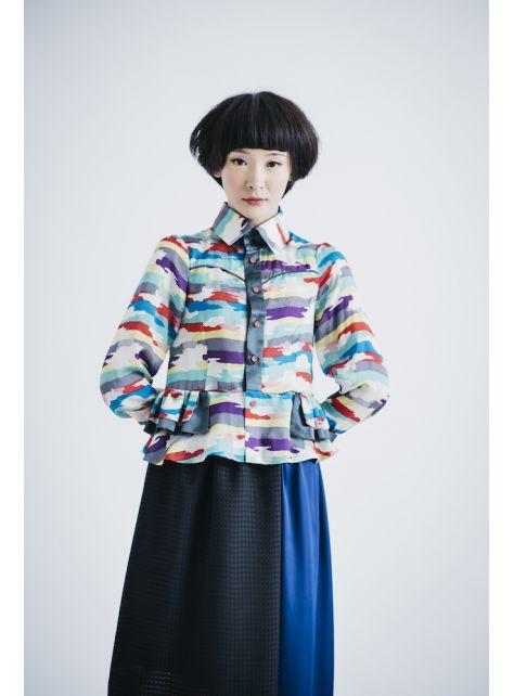 moi non plus 藍黑熱帶魚雙色裙
