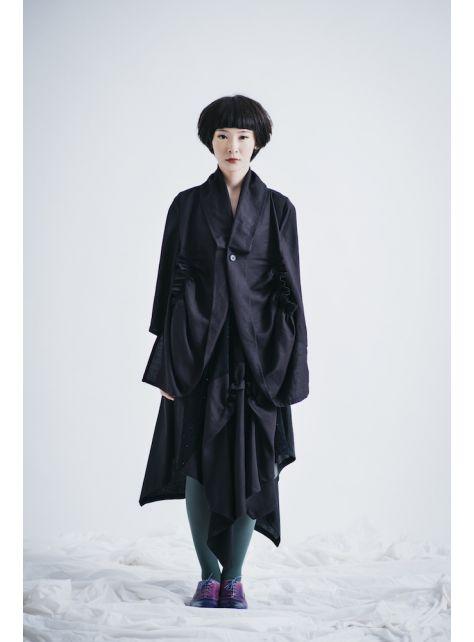 moi non plus 黑 / 藍色珊瑚海長裙 - ( 黑 / 藍 兩款配色 )