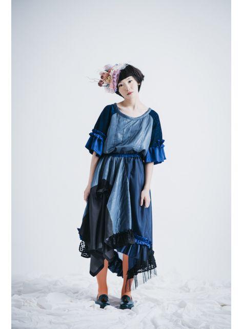 moi non plu 藍穗珊瑚洋裝