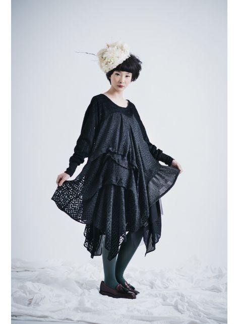 moi non plus 黑葵珊瑚洋裝