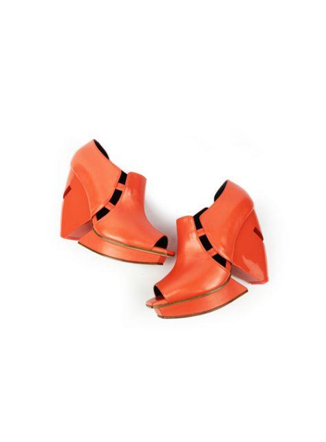 CLAVE [A Season for Murder] 謀殺高跟鞋TEMPTATION (Orange Red) 誘惑(橘紅)-設計專利切面鞋跟