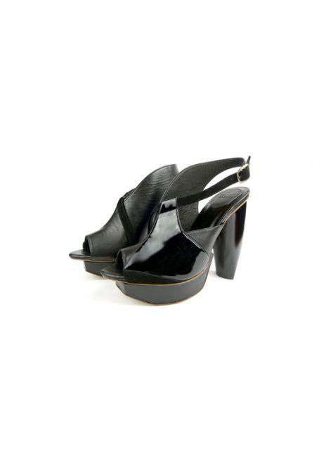CLAVE [A Season for Murder] 謀殺高跟鞋REVENGE-Black 復仇-黑-Platform shoe