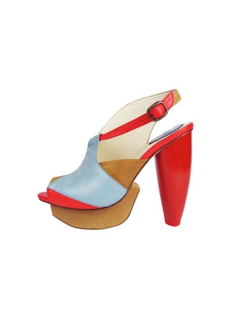 CLAVE [A Season for Murder] 謀殺高跟鞋REVENGE-Blue 復仇-藍-Platform shoe