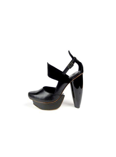CLAVE [A Season for Murder] 謀殺高跟鞋DECLARE-Black 宣示-黑-Platform shoe