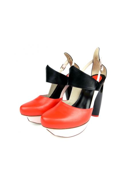 CLAVE [A Season for Murder] 謀殺高跟鞋DECLARE-RED 宣示-紅-Platform shoe