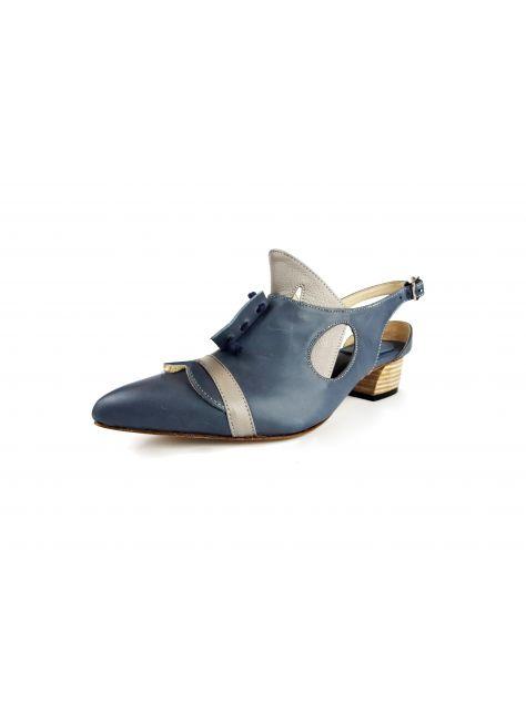 CLAVE [The Deep] 深海主題鞋Cliopsis-海天使-蠟藍/灰-特殊立體造型涼鞋