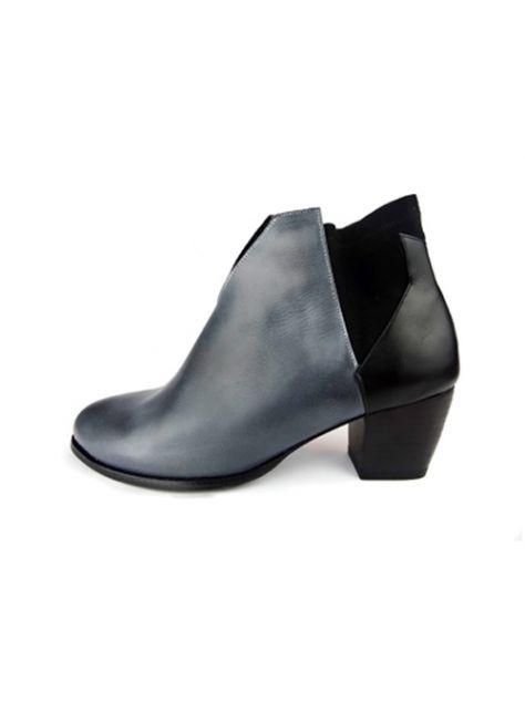 CLAVE [The Deep] 深海主題鞋Benthodesmus-叉尾深海帶魚-藍/黑-撞色踝靴