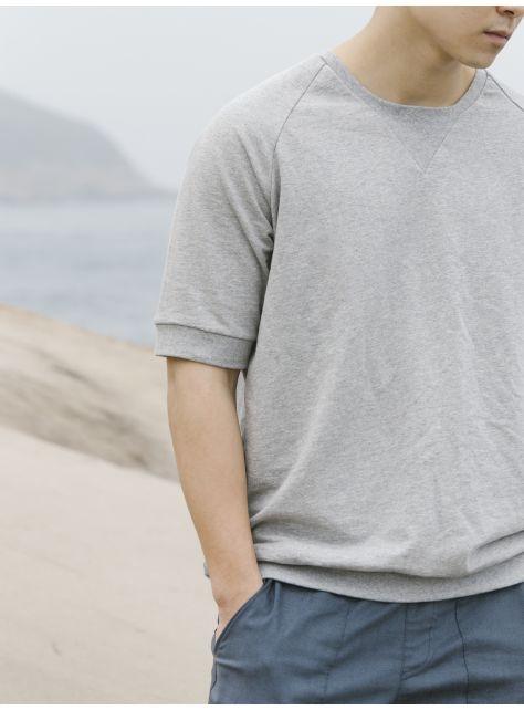 Gray Crew Neck Sweatshirts 灰色衛衣短袖