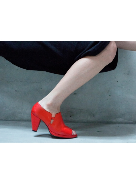 CLAVE [A Season for Murder] MINI TEMPTATION (Orange Red) 迷你誘惑(橘紅)-中低跟魚口鞋[東方寬版型]