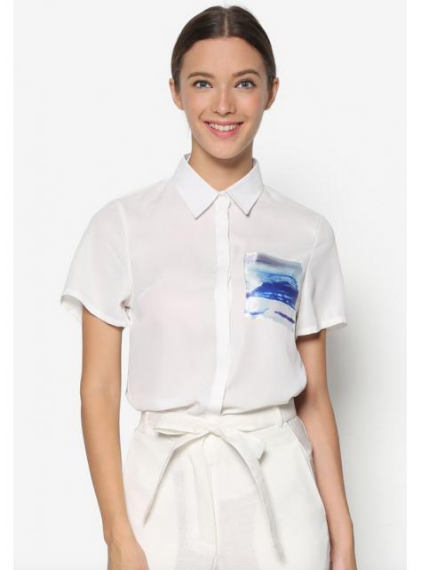 藍海浪花袋恤衫