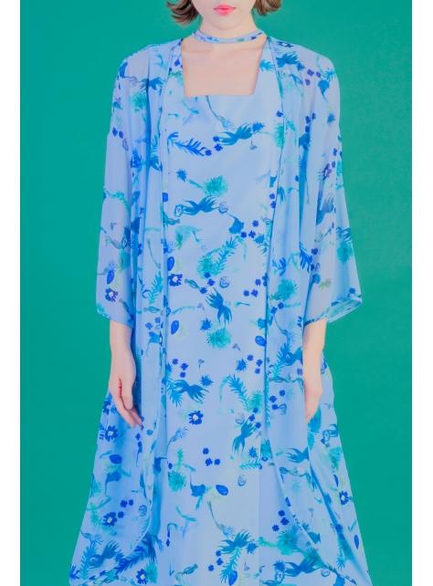 藍花園雪紡罩衫