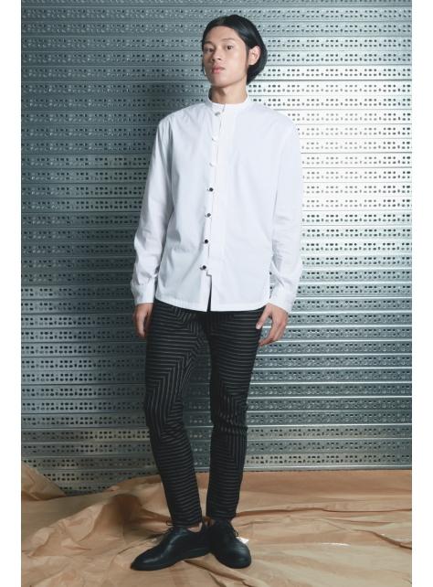 呂- 中式立領襯衫 ( 白 )