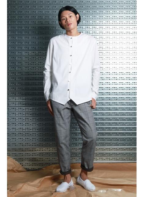 呂- 簡約中式襯衫 ( 白 )