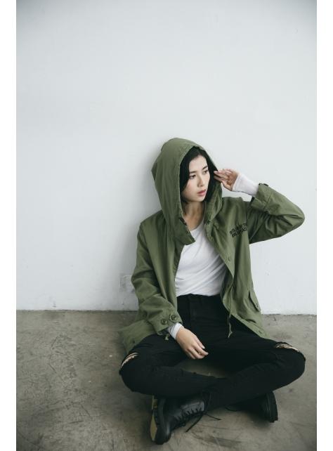刺繡圖騰軍衣外套