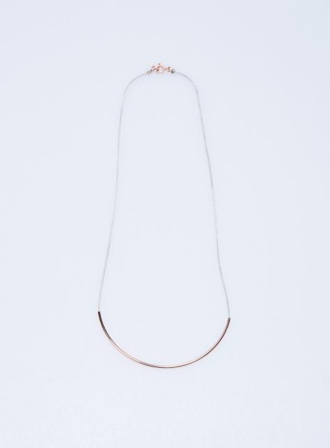COS弧型金屬項鍊
