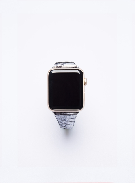 Rebecca Minkoff蛇皮壓紋Apple Watch真皮錶帶