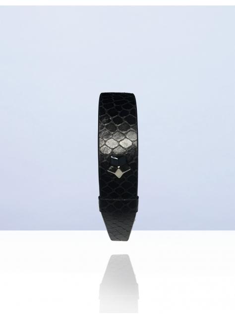 NEVER MIND 牛皮個性手環-Stark-黑色