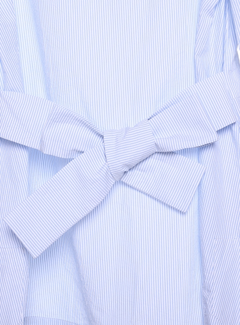 COS條紋綁帶上衣