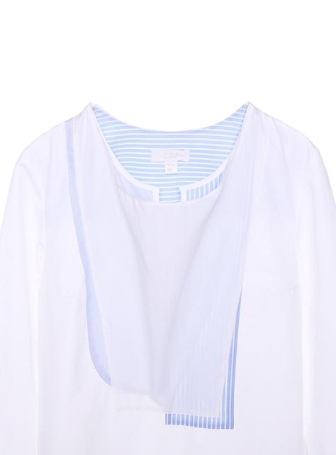 COS多層圍兜設計洋裝