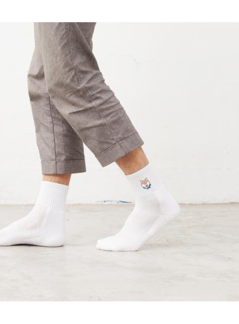 柴犬刺繡短襪
