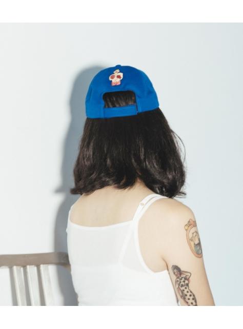 藍色 BOXING 雙剌繡帽