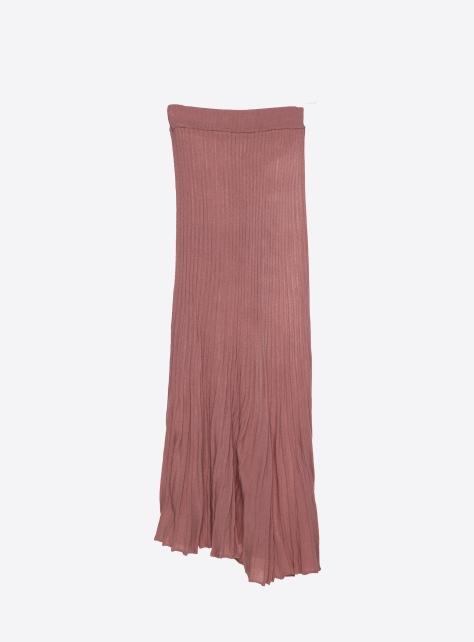 針織波浪長裙