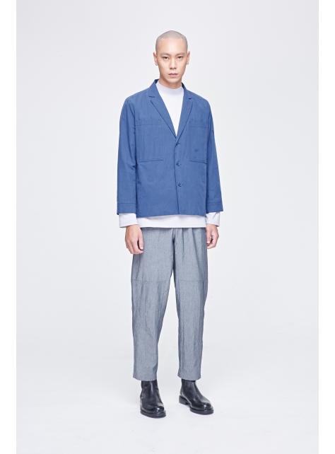 大口袋西裝領工作外套