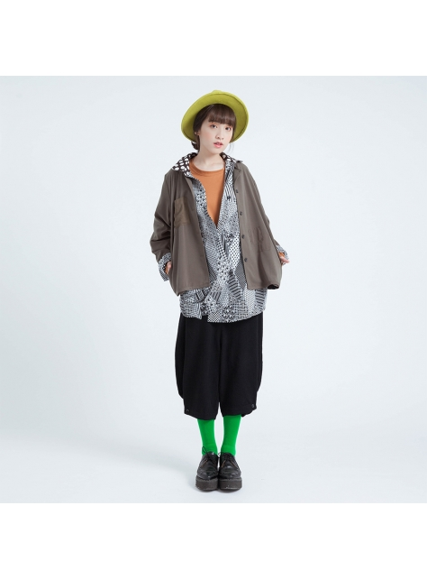 梵 / 川島無領襯衫外套